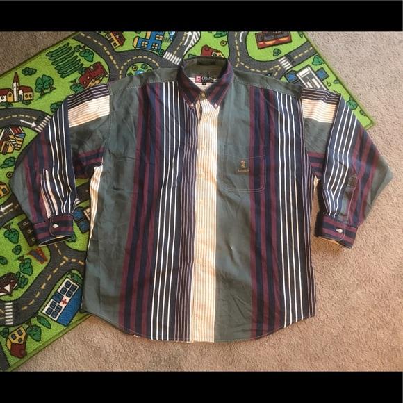 f4c4209e Chaps Shirts | Vtg Vertical Stripe 90s Ralph Lauren Shirt | Poshmark